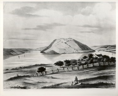 Frederick Swinton (American, 1821-1910). <em>Bluff Point</em>, ca. 1860. Lithograph on wove paper, Image: 13 3/8 x 17 11/16 in. (34 x 45 cm). Brooklyn Museum, Dick S. Ramsay Fund, 46.186.2 (Photo: Brooklyn Museum, CUR.46.186.2.jpg)