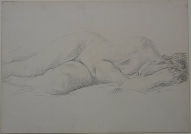Alfred Henry Maurer (American, 1868-1932). <em>Reclining Nude</em>, n.d. Graphite on heavy paper, Sheet: 11 x 15 9/16 in. (27.9 x 39.5 cm). Brooklyn Museum, Gift of Hudson D. Walker, 46.202.3. © artist or artist's estate (Photo: Brooklyn Museum, CUR.46.202.3_overall.jpg)