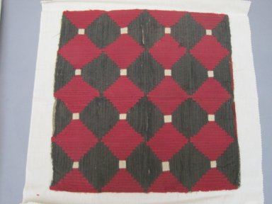 American. <em>Chair Cushion Top</em>, 19th century. Cotton, linen, 20 x 21 in. (50.8 x 53.3 cm). Brooklyn Museum, Gift of Eleanor Curnow, 46.30.71. Creative Commons-BY (Photo: Brooklyn Museum, CUR.46.30.71.jpg)