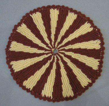 American. <em>Table Mats</em>, 20th century. Cotton, a: 13 in. (33 cm). Brooklyn Museum, Gift of Eleanor Curnow, 46.30.83a-I. Creative Commons-BY (Photo: Brooklyn Museum, CUR.46.30.83g.jpg)