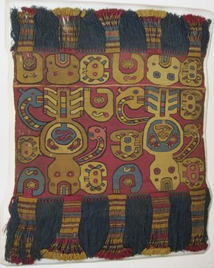Nazca-Wari. <em>Composite Textile Fragment</em>, 700-850 C.E. Tapestry weave with fringe, 45 x 36 in. (114.3 x 91.4 cm). Brooklyn Museum, A. Augustus Healy Fund and Carll H. de Silver Fund, 46.46.1. Creative Commons-BY (Photo: Brooklyn Museum, CUR.46.46.1.jpg)
