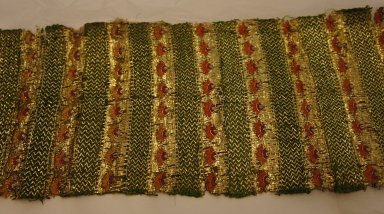 <em>Turban Cloth</em>. Embroidered cotton, 5 9/16 x 37 in. (14.2 x 94 cm). Brooklyn Museum, Gift of Mrs. Frederic B. Pratt, 46.63.1 (Photo: Brooklyn Museum, CUR.46.63.1.jpg)