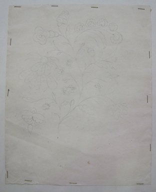<em>Design Drawing</em>, late 18th century. Pencil on paper, 6 1/2 x 8 in. (16.5 x 20.3 cm). Brooklyn Museum, Museum Collection Fund, 47.189.19 (Photo: Brooklyn Museum, CUR.47.189.19.jpg)