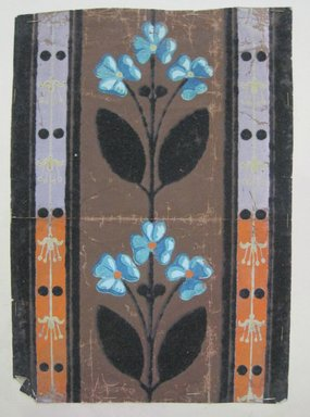 <em>Design Drawing</em>, early 19th century. Paint on paper, 6 x 8 3/4 in. (15.2 x 22.2 cm). Brooklyn Museum, Museum Collection Fund, 47.189.26 (Photo: Brooklyn Museum, CUR.47.189.26.jpg)