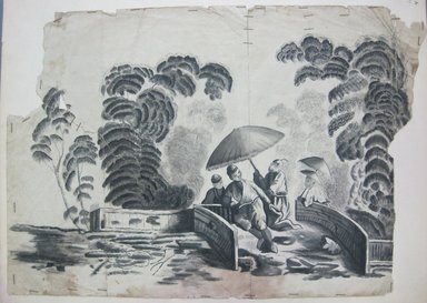 <em>Design Drawing</em>, late 18th century. Ink on paper, 13 3/4 x 9 1/2 in. (34.9 x 24.1 cm). Brooklyn Museum, Museum Collection Fund, 47.189.27 (Photo: Brooklyn Museum, CUR.47.189.27.jpg)