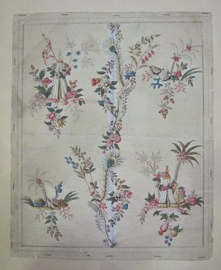 <em>Design Drawing</em>, second half 18th century. Ink and paint on paper, 9 x 11 in. (22.9 x 27.9 cm). Brooklyn Museum, Museum Collection Fund, 47.189.4 (Photo: Brooklyn Museum, CUR.47.189.4.jpg)