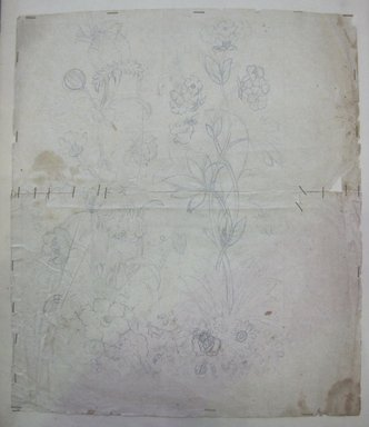 <em>Design Drawing</em>, late 18th century. Pencil on paper, 10 x 11 3/4 in. (25.4 x 29.8 cm). Brooklyn Museum, Museum Collection Fund, 47.189.8 (Photo: Brooklyn Museum, CUR.47.189.8.jpg)