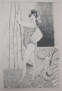 Walt Kuhn (American, 1877-1949). <em>Mirabell</em>, 1925. Lithograph on paper, Sheet: 18 7/16 x 12 13/16 in. (46.8 x 32.5 cm). Brooklyn Museum, Dick S. Ramsay Fund, 47.207.1. © artist or artist's estate (Photo: Brooklyn Museum, CUR.47.207.1.jpg)