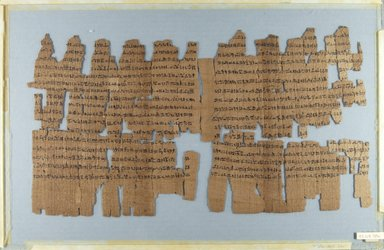 <em>Brooklyn Wisdom Papyrus</em>, late 6th century B.C.E. Papyrus, ink, Overall: 7 7/8 × 52 1/8 in. (20 × 132.4 cm). Brooklyn Museum, Bequest of Theodora Wilbour from the collection of her father, Charles Edwin Wilbour, 47.218.135a-e (Photo: Brooklyn Museum, CUR.47.218.135a_recto_IMLS_PS5.jpg)