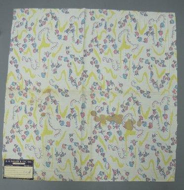Jim Tillett (American, 1913-1996). <em>Textile</em>, 1947. Printed cotton, 34 x 34 1/2 in. (86.4 x 87.6 cm). Brooklyn Museum, Gift of D. B. Fuller and Co. Inc., 47.38.2 (Photo: Brooklyn Museum, CUR.47.38.2.jpg)