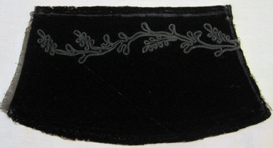 <em>Textile Fragment from Cape</em>, 1890s. Velvet, 11 1/2 x 6 in. (29.2 x 15.2 cm). Brooklyn Museum, 47.5.2 (Photo: Brooklyn Museum, CUR.47.5.2.jpg)