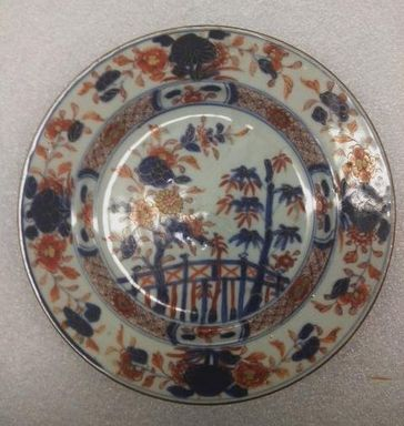 <em>Plate</em>, ca. 1740. Porcelain Brooklyn Museum, Gift of Mrs. Howard M. Morse, 47.72. Creative Commons-BY (Photo: Brooklyn Museum, CUR.47.72_overall.jpg)
