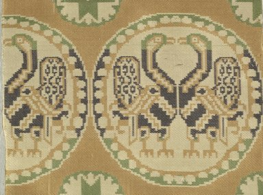 <em>Fragment with Animal and Geometric Decoration</em>. Silk, cotton, 6 x 6 1/2 in. (15.2 x 16.5 cm). Brooklyn Museum, Gift of Marguerite Mallon, 48.154. Creative Commons-BY (Photo: Brooklyn Museum (in collaboration with Index of Christian Art, Princeton University), CUR.48.154_detail01_ICA.jpg)