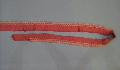 <em>Hangings</em>, mid to late 19th century. Silk, metal, a: 43 x 77 3/4 in. (109.2 x 197.5 cm). Brooklyn Museum, 48.207.277a-c (Photo: Brooklyn Museum, CUR.48.207.277c.jpg)