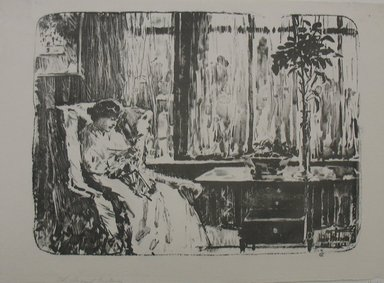 Frederick Childe Hassam (American, 1859-1935). <em>The Broad Curtain</em>. Lithograph Brooklyn Museum, By exchange, 48.209.1 (Photo: Brooklyn Museum, CUR.48.209.1.jpg)