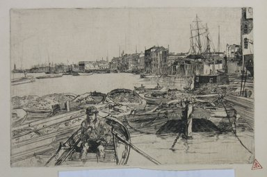 James Abbott McNeill Whistler (American, 1834-1903). <em>The Pool</em>, 1859. Etching on paper, Image: 5 7/16 x 8 5/16 in. (13.8 x 21.1 cm). Brooklyn Museum, By exchange, 48.209.4 (Photo: Brooklyn Museum, CUR.48.209.4.jpg)