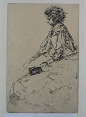 James Abbott McNeill Whistler (American, 1834-1903). <em>Bibi Lalouette</em>, 1859. Etching, Sheet: 12 1/4 x 8 in. (31.1 x 20.3 cm). Brooklyn Museum, By exchange, 48.209.5 (Photo: Brooklyn Museum, CUR.48.209.5.jpg)