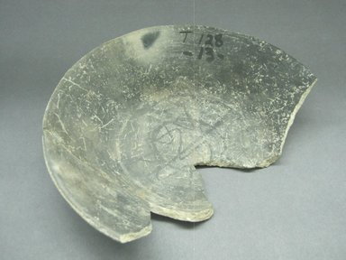 Zapotec. <em>Bowl Fragment</em>, 100-600. Ceramic, 1 9/16 x 7 7/8 x 7 7/8 in. (4 x 20 x 20 cm). Brooklyn Museum, By exchange, 48.22.39. Creative Commons-BY (Photo: Brooklyn Museum, CUR.48.22.39_view1.jpg)