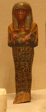 <em>Shabti of Setau</em>, ca. 1352-1322 B.C.E. Wood, pigment, 11 1/8 x 3 3/8 in. (28.2 x 8.5 cm). Brooklyn Museum, Charles Edwin Wilbour Fund, 48.26.2. Creative Commons-BY (Photo: Brooklyn Museum, CUR.48.26.2_wwgA-3.jpg)