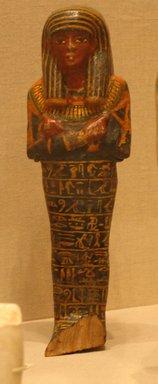 <em>Shabti of Setau</em>, ca. 1352-1322 B.C.E. Wood, pigment, 11 1/8 x 3 3/8 in. (28.2 x 8.5 cm). Brooklyn Museum, Charles Edwin Wilbour Fund, 48.26.2. Creative Commons-BY (Photo: Brooklyn Museum, CUR.48.26.2_wwgA-3.jpg)