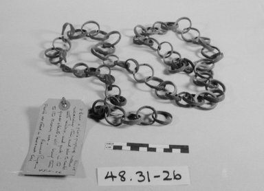 Caroline Islander. <em>Necklace</em>, before 1900., 55 5/16 in. (140.5 cm). Brooklyn Museum, Gift of Mrs. James C. Pryor, 48.31.26. Creative Commons-BY (Photo: Brooklyn Museum, CUR.48.31.26_bw.jpg)
