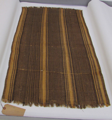 Caroline Islander. <em>Fibre Cloth</em>, before 1900. Plant fiber, 42 1/8 × 25 3/16 in. (107 × 64 cm). Brooklyn Museum, Gift of Mrs. James C. Pryor, 48.31.38. Creative Commons-BY (Photo: , CUR.48.31.38_view01.jpg)