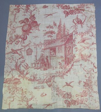 <em>Toile Fragment</em>, late 18th century. Printed linen, 35 1/2 x 42 in. (90.2 x 106.7 cm). Brooklyn Museum, Caroline H. Polhemus Fund, 49.107.1 (Photo: Brooklyn Museum, CUR.49.107.1.jpg)