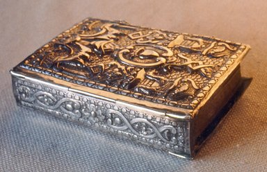 <em>Prayer-book</em>, 1772. Silver, 6 11/16 x 4 3/4 in. (17 x 12.1 cm). Brooklyn Museum, Purchased with funds given by S. Ralph Lazrus, 49.228.4. Creative Commons-BY (Photo: Brooklyn Museum, CUR.49.228.4.jpg)