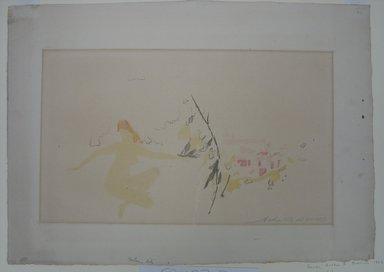 Arthur B. Davies (American, 1862-1928). <em>Golden City</em>, 1923. Lithograph on heavy white wove paper, 12 3/4 x 17 13/16 in. (32.4 x 45.2 cm). Brooklyn Museum, Gift of Ferargil Galleries, 50.137.3. © artist or artist's estate (Photo: Brooklyn Museum, CUR.50.137.3.jpg)