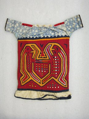 Kuna. <em>Child's Blouse, Kuna</em>, ca. 1940's. Cotton, 16 1/4 x 16 1/4 in. (41.3 x 41.3 cm). Brooklyn Museum, Gift of Adele Simpson, 51.119.1. Creative Commons-BY (Photo: Brooklyn Museum, CUR.51.119.1_view1.jpg)