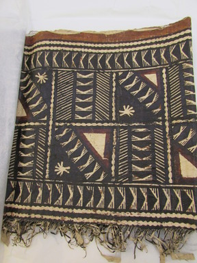 Fijian. <em>Tapa (Masi)</em>, late 19th-mid 20th century. Barkcloth, pigment, 18 1/2 × 118 1/2 in. (47 × 301 cm). Brooklyn Museum, Gift of John W. Vandercook, 51.140.1. Creative Commons-BY (Photo: , CUR.51.140.1_overall.jpg)