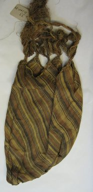 Kpelle. <em>Carrying Bag</em>, ca. 1926. Raffia, dye, 21 5/8 x 8 1/4 in. (54.9 x 21 cm). Brooklyn Museum, Gift of John W. Vandercook, 51.140.33. Creative Commons-BY (Photo: Brooklyn Museum, CUR.51.140.33_overall.jpg)