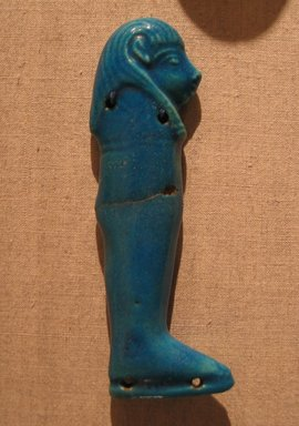 <em>One of the Four Sons of Horus</em>, ca. 664-after 30 B.C.E. Faience, 4 5/16 in.  (11.0 cm). Brooklyn Museum, Charles Edwin Wilbour Fund, 51.223.1. Creative Commons-BY (Photo: Brooklyn Museum, CUR.51.223.1_wwgA-3.jpg)