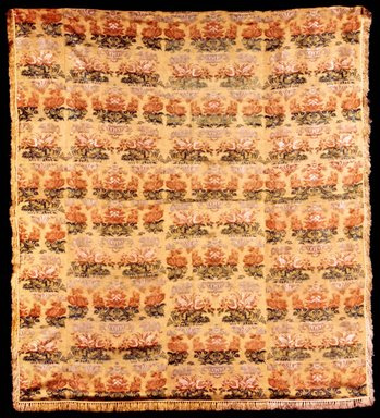 <em>Hanging Panel or Bed Cover</em>, 18th century. Silk and linen, 78 x 85 in. (198.1 x 215.9 cm). Brooklyn Museum, Gift of Susan D. Bliss, 51.248.11. Creative Commons-BY (Photo: Brooklyn Museum, CUR.51.248.11.jpg)