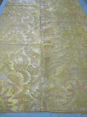 <em>Textile</em>, 16th-19th century. Silk, metallic thread, 41 1/2 x 86 1/2 in. (105.4 x 219.7 cm). Brooklyn Museum, Gift of Susan D. Bliss, 51.248.12. Creative Commons-BY (Photo: Brooklyn Museum, CUR.51.248.12.jpg)