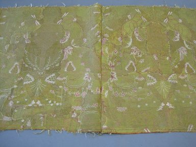 <em>Textile Fragments</em>, late17th to 19th century. Silk, metallic thread, a: 23 x 39 in. (58.4 x 99.1 cm). Brooklyn Museum, Gift of Susan D. Bliss, 51.248.4a-b. Creative Commons-BY (Photo: Brooklyn Museum, CUR.51.248.4a.jpg)