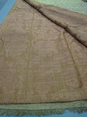 <em>Textile</em>, 17th-19th century. Silk, linen, 86 1/2 x 99 1/2 in. (219.7 x 252.7 cm). Brooklyn Museum, Gift of Susan D. Bliss, 51.248.8. Creative Commons-BY (Photo: Brooklyn Museum, CUR.51.248.8_detail.jpg)
