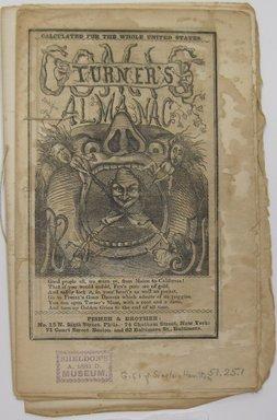 Unknown. <em>Turner's Comic Almanac</em>, 1851. Wood engravings on paper, 8 1/4 x 5 3/8 in. (21 x 13.7 cm). Brooklyn Museum, Gift of Sinclair Hamilton, 51.25.1 (Photo: Brooklyn Museum, CUR.51.25.1.jpg)