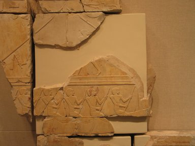 <em>Relief Blocks from the Tomb of the Vizier Nespeqashuty</em>, ca. 664-610 B.C.E. Limestone, 14 13/16 x 15 in. (37.6 x 38.1 cm). Brooklyn Museum, Charles Edwin Wilbour Fund, 52.131.14. Creative Commons-BY (Photo: Brooklyn Museum, CUR.52.131.14_wwgA-3.jpg)