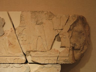<em>Relief Blocks from the Tomb of the Vizier Nespeqashuty</em>, ca. 664-610 B.C.E. Limestone, 11 3/4 x 19 3/4 in. (29.8 x 50.2 cm). Brooklyn Museum, Charles Edwin Wilbour Fund, 52.131.20. Creative Commons-BY (Photo: Brooklyn Museum, CUR.52.131.20_wwgA-3.jpg)