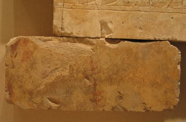 <em>Relief Blocks from the Tomb of the Vizier Nespeqashuty</em>, ca. 664-610 B.C.E. Limestone, 8 7/8 x 20 7/8 in. (22.5 x 53 cm). Brooklyn Museum, Charles Edwin Wilbour Fund, 52.131.26. Creative Commons-BY (Photo: Brooklyn Museum, CUR.52.131.26_wwgA-3.jpg)