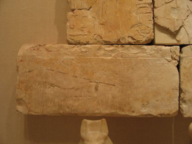 <em>Relief Blocks from the Tomb of the Vizier Nespeqashuty</em>, ca. 664-610 B.C.E. Limestone, 9 1/2 x 21 3/4 in. (24.1 x 55.2 cm). Brooklyn Museum, Charles Edwin Wilbour Fund, 52.131.4. Creative Commons-BY (Photo: Brooklyn Museum, CUR.52.131.4_wwgA-3.jpg)