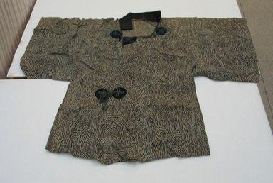 <em>Jacket</em>, mid-20th century. Bast fiber, wool, 35 7/16 x 46 7/16 in. (90 x 118 cm). Brooklyn Museum, Gift of Carolyn Schnurer, 52.62.A.63. Creative Commons-BY (Photo: Brooklyn Museum, CUR.52.62.A.63.jpg)