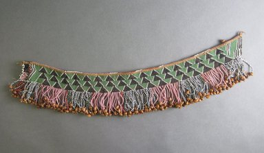 Possibly South Sotho. <em>Waistband with Fringe</em>, 19th century. Glass seed beads, seeds, sinew, 16 3/4 x 3 1/4 in. (42.5 x 8.3 cm). Brooklyn Museum, Bequest of Mrs. George Hadden, 52.80.2. Creative Commons-BY (Photo: Brooklyn Museum, CUR.52.80.2_bottom.jpg)