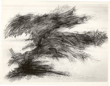 Gabor Peterdi (American, born Hungary, 1915-2001). <em>Wings of the Ocean</em>, 1952. Etching on paper, sheet: 21 3/4 x 15 5/8 in. (55.2 x 39.7 cm). Brooklyn Museum, Dick S. Ramsay Fund, 53.16.4. © artist or artist's estate (Photo: Brooklyn Museum, CUR.53.16.4.jpg)
