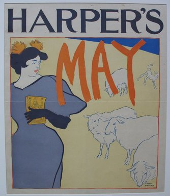 Edward Penfield (American, 1866-1925). <em>Harper's Poster - May 1895</em>, 1895. Lithograph on wove paper, Sheet: 16 3/4 x 13 3/8 in. (42.5 x 34 cm). Brooklyn Museum, Dick S. Ramsay Fund, 53.167.11 (Photo: Brooklyn Museum, CUR.53.167.11.jpg)