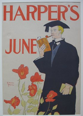 Edward Penfield (American, 1866-1925). <em>Harper's Poster - June 1895</em>, 1895. Lithograph on wove paper, 18 1/4 x 12 7/8 in. (46.4 x 32.7 cm). Brooklyn Museum, Dick S. Ramsay Fund, 53.167.2 (Photo: Brooklyn Museum, CUR.53.167.2.jpg)