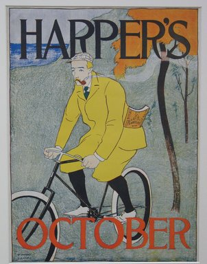Edward Penfield (American, 1866-1925). <em>Harper's Poster</em>, 1894. Lithograph on wove paper, Sheet: 17 3/4 x 13 1/4 in. (45.1 x 33.7 cm). Brooklyn Museum, Dick S. Ramsay Fund, 53.167.26 (Photo: Brooklyn Museum, CUR.53.167.26.jpg)