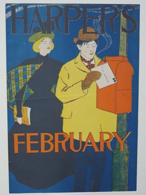 Edward Penfield (American, 1866-1925). <em>Harper's Poster</em>, ca. 1894-1898. Lithograph on wove paper, sheet: 18 3/8 x 12 7/8 in. (46.7 x 32.7 cm). Brooklyn Museum, Dick S. Ramsay Fund, 53.167.29 (Photo: Brooklyn Museum, CUR.53.167.29.jpg)