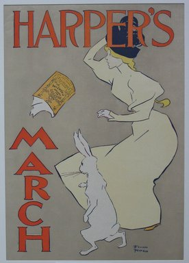 Edward Penfield (American, 1866-1925). <em>Harper's Poster - March 1895</em>, 1895. Lithograph on wove paper, Sheet: 19 1/4 x 13 7/8 in. (48.9 x 35.2 cm). Brooklyn Museum, Dick S. Ramsay Fund, 53.167.3 (Photo: Brooklyn Museum, CUR.53.167.3.jpg)